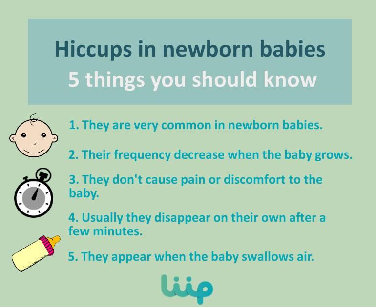 Hiccups in newborn babies